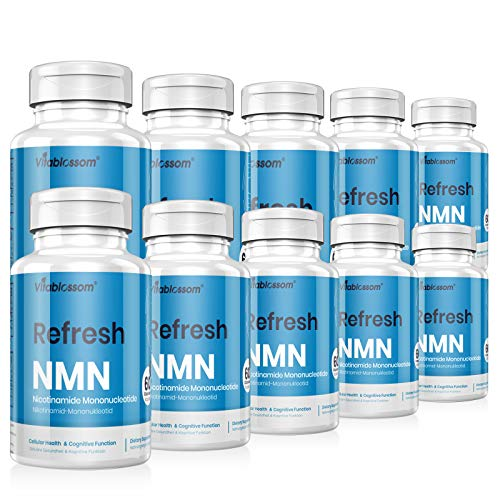 Vitablossom NMN Supplement 500mg NMN Capsules NMN Nicotinamide Mononucleotide NAD Supplements, to Boost NAD Levels for Anti Aging, Energy Supplement, Cellular Repair & Healthy ( 10 Pack 600 Count)