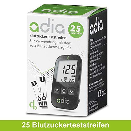 adia Blutzuckerteststreifen [25 Stück] – die günstige und einfache Blutzuckermessung!