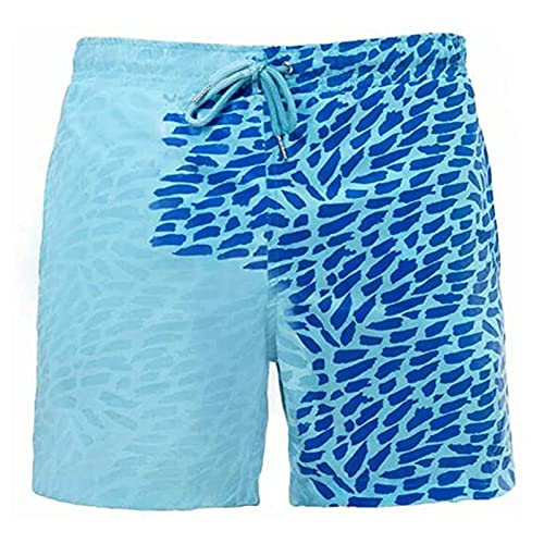 TTDD Pantalones de Playa de Cambio de Color de niños, Pantalones Cortos de natación de Verano niños niños niños niños Temperatura Sensible de Color cambiante Pantalones d 3XL