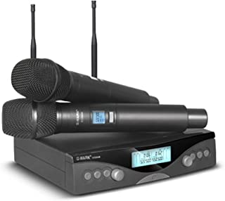 G-MARK G320AM Wireless Microphone System Professional UHF Automatic Handheld Microphone Frequency Adjustable 100M Receive