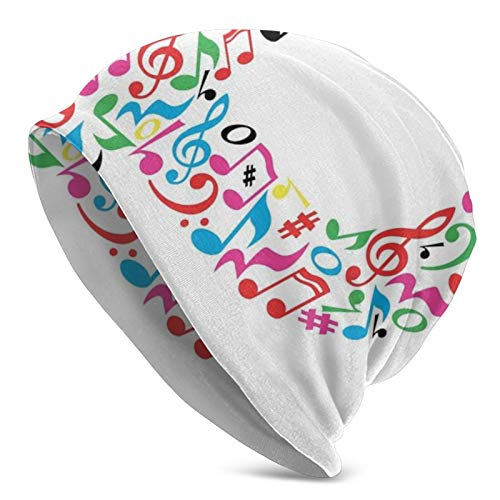 No Brand Winter Beanie Knit Hats for Men & Women - Warm, Z0420 Notes of Music Harmoniously Combined Creating Capital P Alphabet ABC Design Print