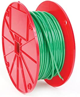 Koch 014052 Cable, 1 by 7 Construction, Trade Size 1/16-.140 by 250 Feet, Galvanized with Green Vinyl Coating