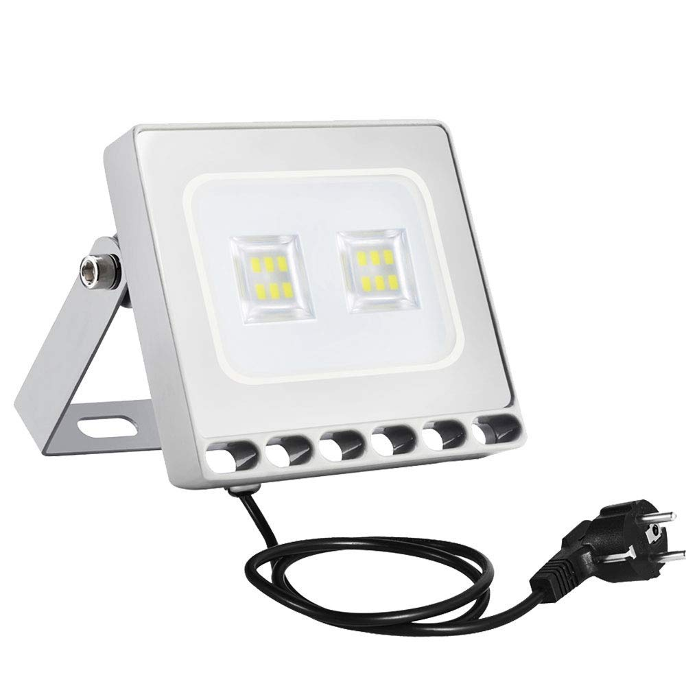 Sararoom 10W Foco Proyector LED Ultra Plano,IP65 Impermeable ...