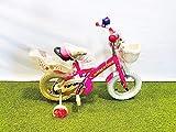 CINZIA Jumpertrek Ninjas - Bicicleta de niña de 12 pulgadas con ruedas