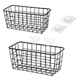 LeleCAT Hanging Kitchen Baskets For Storage Adhesive Sturdy Small Wire Storage Baskets with Kitchen...