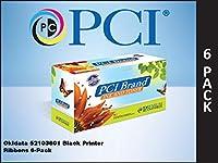 プレミアム互換機52103601self-inkingナイロンRibbons for Okidata Microline、ブラック、6Perボックス