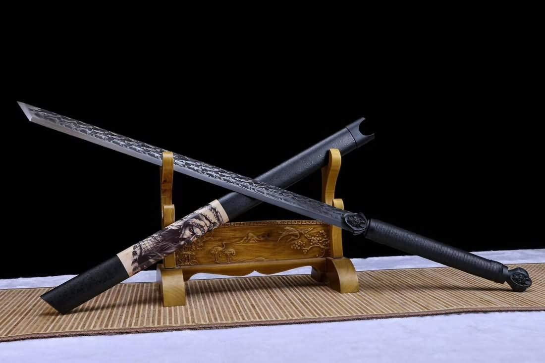 Tang dao 送料無料/新品 Hand Forged Spring Heat Tempered Steel Blade Full 格安店