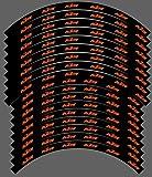 Kit gráficos adhesivos llantas compatibles para KTM SX SXF EXC 18' 19' 21' (03) brillante