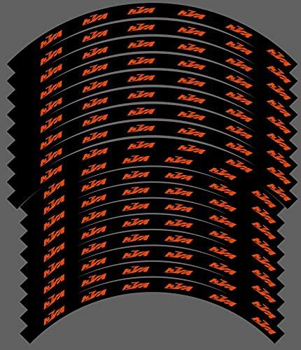 """Kit gráficos adhesivos llantas compatibles para KTM SX SXF EXC 18"""" 19"""" 21"""" (03) brillante"""