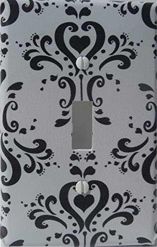 Amazon Com Black And Gray Damask Light Switch Plate Single Toggle Damask Nursery Wall Decor Single Toggle Light Switch Plate Baby