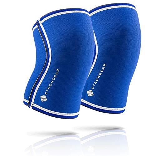 STRONGEAR® Knee Sleeves Kniebandage [1 Paar] - 7mm Neopren für extra hohe Unterstützung, Kompression und Stabilität beim Sport - Weightlifting, Powerlifiting, Bandage Knie-schoner für Männer und Damen