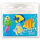 Erazer Buddiez - Peces de Arrecife de Deluxebase. Gomas de borrar con forma de peces para niñas y niños. Colorido set de borradores de lápiz, ideal para útiles escolares y artículos de oficina