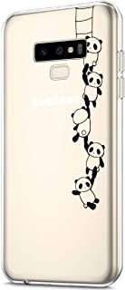 ikasus Case for Galaxy Note 9,Clear Art Panited Pattern Design Soft & Flexible TPU Ultra-Thin Transparent Flexible Soft Rubber Gel TPU Protective Case Cover for Galaxy Note 9 Case,Panda string