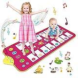 Vimzone Alfombrilla Piano, Alfombrilla Musical Alfombrilla de Baile con 7 Sonidos de Animales y 8 Melodías, Juguetes Educativos Regalos para Niños Niñas 1 2 3 Años