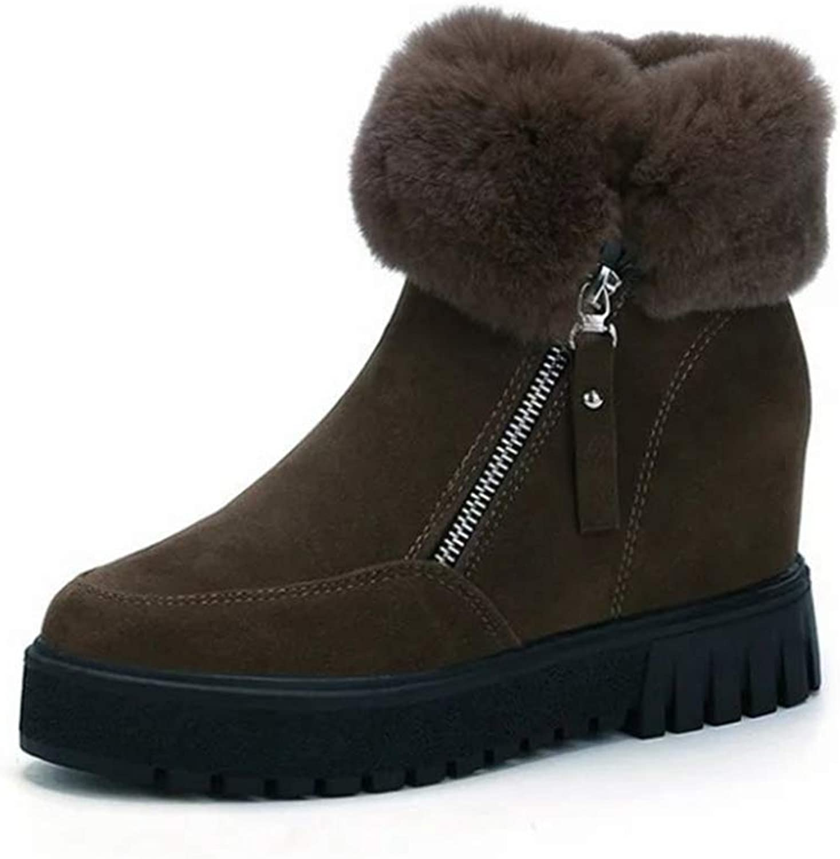 SENERY Women Winter Ankle Boots Fashion Warm Snow Boots Botas women Zipper Fur Short Ankle Booties