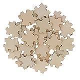 IPOTCH 50pcs Puzzle de Madera en Blanco, 40x40m para Rompecabezas de Libro de Visitas de Boda Rústica