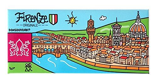 DONSOUVENIR Magnete Firenze. Modello: Fiume Arno. CALAMITA da FRIGO