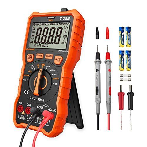Lomvum T28B Auto Ranging Digital Multimeter, 6000 Counts Electrical Tester AC/DC...
