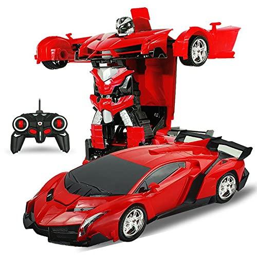 N\C Schadener Rückerstattung 2in1 RC Auto Sportwagen Transformation Roboter Modelle Fernbedienung Verformung RC Kämpfe Spielzeug Kinder Geschenk