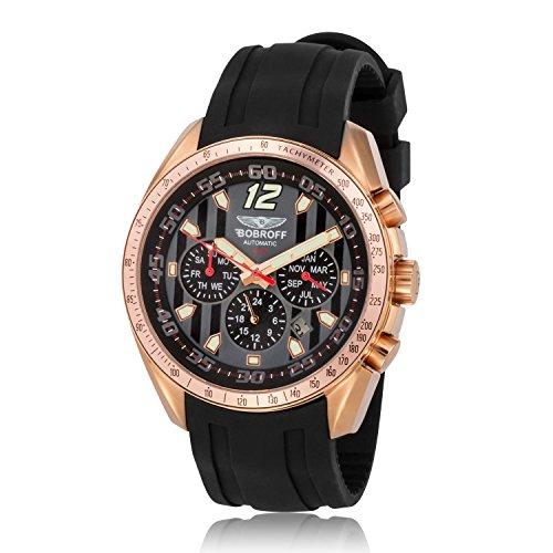 Bobroff Reloj Analógico para Hombre de Automático con Correa en Caucho BF0016GN