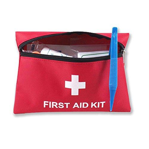 JT Outdoor-Portable Erste-Hilfe-Kit 12 Erste-Hilfe-Tools wasserdichte Verschleiß resistent Mountaineering Camping Notfall-Tools, red