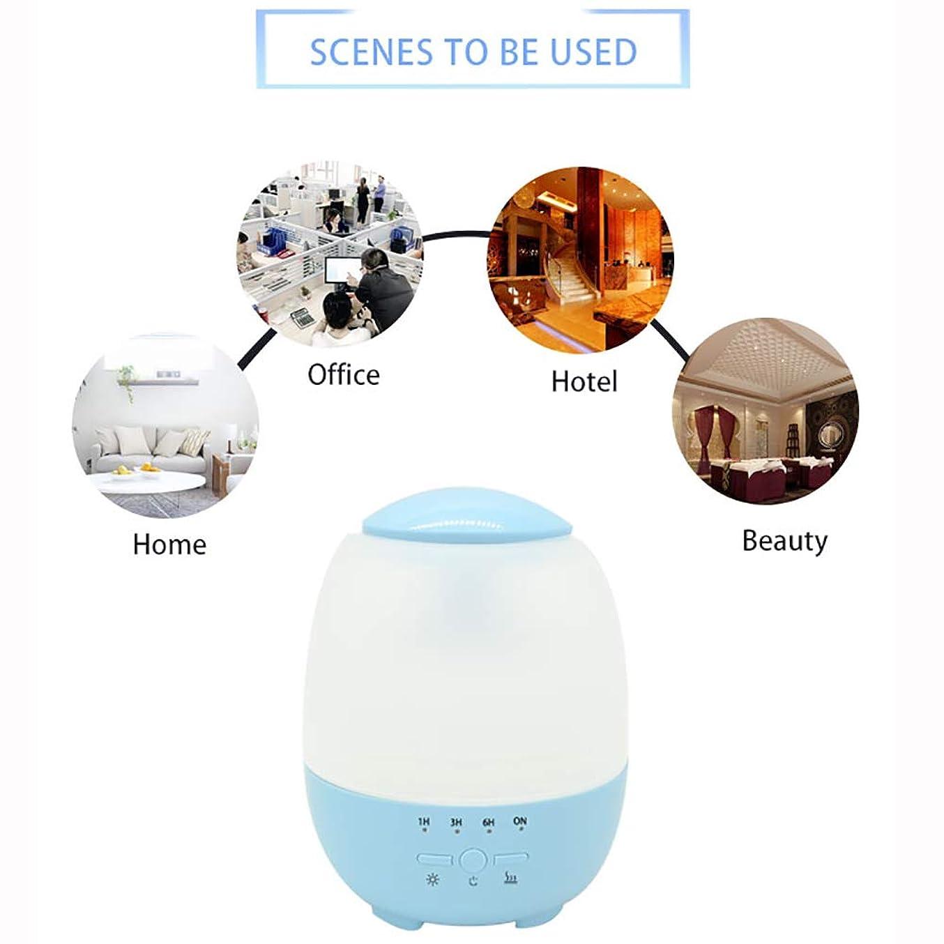 レンジ混雑滑るエッセンシャルオイルディフューザーと加湿器、ミストエッセンシャルオイルアロマ加湿器用の超音波アロマディフューザー、7色LEDライト,Blue