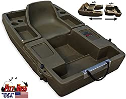 constructed of a durable polyethylene pontoon boat