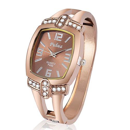 SJXIN Stilvolle Uhr V6 Uhr Römische Urlaub Zeiger Uhr große Zifferblatt Leder Uhr zu sehen Modeuhren (Color : 1)