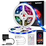 Tiras LED 10M Bluetooth, Music Sync Tira de luz LED RGB que cambia de color a prueba de agua [Clase de eficiencia energética A +++]