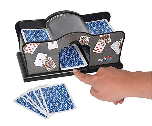 Noris - Kartenmischmaschine - batteriebetrieben (2x 1, 5V Batterien nicht enthalten) für Kartengröße bis 9, 2 x 6 cm - Spielzeug ab 8 Jahren