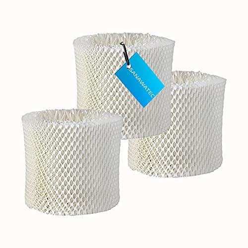 SANAWATEC 3 Luftbefeuchter - Filter Luftbefeuchtungsfilter Ersatz für Philips Luftbefeuchter HU4801 HU4802 HU4803, HU4811, HU4813, HU4814 ersetzt Luftbefeuchtungsfilter Philips HU4102/01