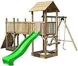 Spielturm-Anlage'Wild Park' mit Rutsche, Doppelschaukel und Kletterwand
