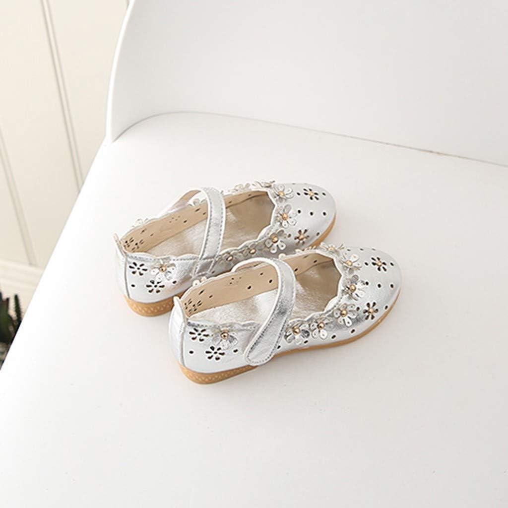 GirlsToddler Kids Shoes Loafers Soft Flower Hollow Princess Single Flats Casual Shoes Memela