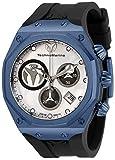 Technomarine Men's Reef Sun Stainless Steel Quartz Watch with Silicone Strap, Black, 32.5 (Model: TM-519018)