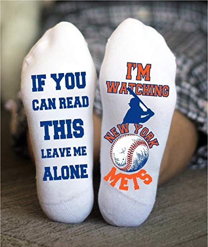 New York Mets Socks Funny Birthday Gift Baseball Team Game