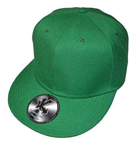 Underground Kulture Casquette de Baseball Réglable Tout Vert (Plain Green Snapback)