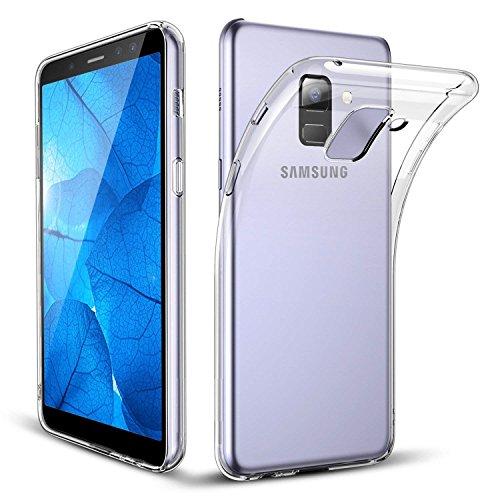 DN-TECHNOLOGY Custodia Galaxy A82018, Samsung Galaxy A82018[Fusion] Trasparente Posteriore del Gel di Assorbimento degli Urti [Protezione Goccia/Tecnologia] per Samsung Galaxy A82018Case