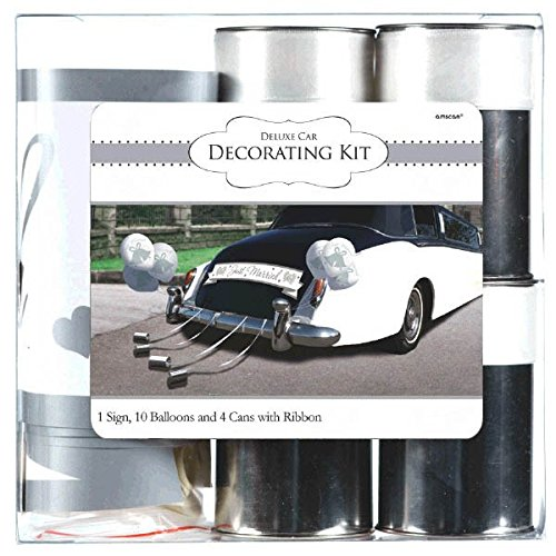 Amscan 248896 Wedding Deluxe Car Decorating Kit, Multi Sizes, Multicolor
