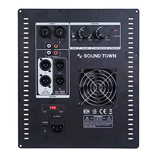 Sound Town Class-D Plate Amplifier for PA DJ Subwoofer Cabinets, 700W RMS, w/LPF (STPAS-800D)