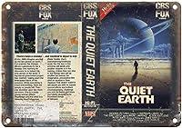 静かな地球のビデオヴィンテージティンサインの装飾ヴィンテージの壁メタルプラークレトロな鉄の絵画カフェバー映画のギフト結婚式誕生日警告
