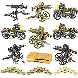 WWEI Juego de armas militares de guerra WW2 para niños, mini soldados, figuras de policía SWAT compatibles con Lego