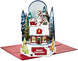 Hallmark Paper Wonder Pop Up Christmas Card (Santa's Delivery)
