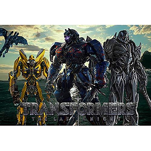 BINGFENG Hijos Adultos 1500 Pieza De Puzzle Transformers 5 Optimus Prime Megatron Cine Abejorro Animado De Juegos Educativos De La Familia De Madera del Rompecabezas K