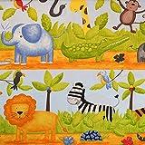 MAGAM-Stoffe Große Safari Baumwollstoff Kinderstoff 100% Baumwolle Oeko-Tex Meterware 50cm (Bunt)