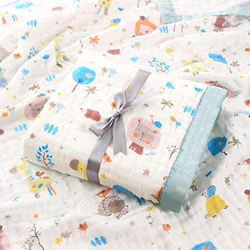 SaponinTree Musselin Babydecke, Superweich Baumwolle Kuscheldecke, 100{ef9712e9543936dfbeaf9128ffd54e9b50b53f791904ee3ebbbcb0815e0ea19c} Baumwolle, Zwei Lagen Decke Pucktüche für Kinder et Baby Kinderwagen und Babyschale