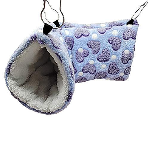 Odxlzc Love hámster Juego túnel ratón Agilidad túnel Animal pequeño Juguete Caza y Descanso Hamaca Jaula decoración Animal pequeño Nido de algodón cálido (Azul)