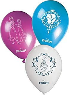 "Unique Party 72024 - 11"" Disney Frozen Balloons, Pack of 8 in Pink/Blue/White"