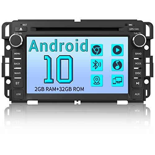 AWESAFE Car Radio Stereo Andriod 10.0 for GMC Sierra Yukon Chevrolet Buick Chevy Silverado Tahoe Head Unit with WiFi Bluetooth Support Apple Carplay Andriod Auto