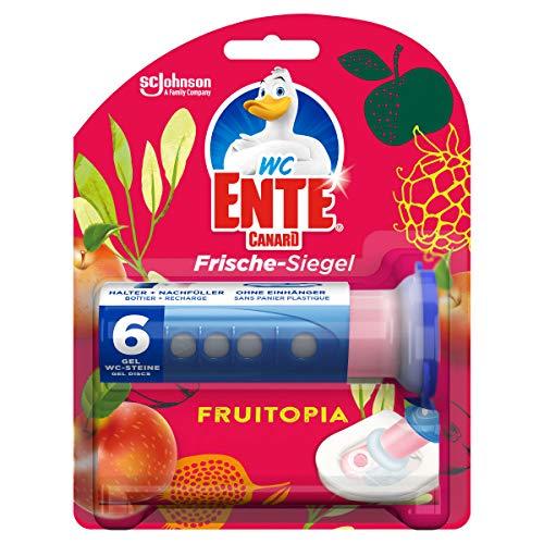 WC Ente Frische-Siegel, WC Stein aus Gel, Spendergriff inkl. Nachfüller, Fruitopia, 1er Pack (1 x 36 ml)