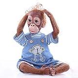 21 Pulgadas 52 CM Realista Lindo Du Mouth Reborn Monkey Baby Dolls Muy Suave Silicona Vinilo Orangut...
